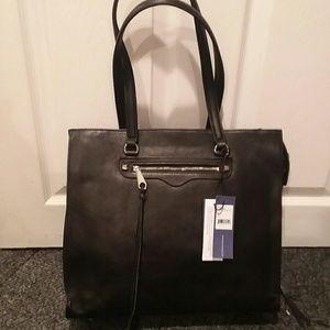 Rebecca Minkoff black leather handbag NWT